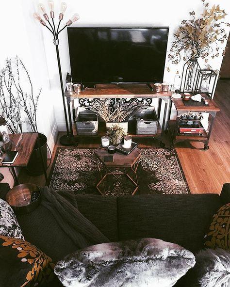 Boho Decor A shrine to a sacred piece of my apartment decort: the television. TV stand decor makes i Home Living Room, Living Room Designs, Living Room Decor, Studio Apartment Decorating, Apartment Design, Apartment Interior, Apartment Ideas, Ux Design, House Design