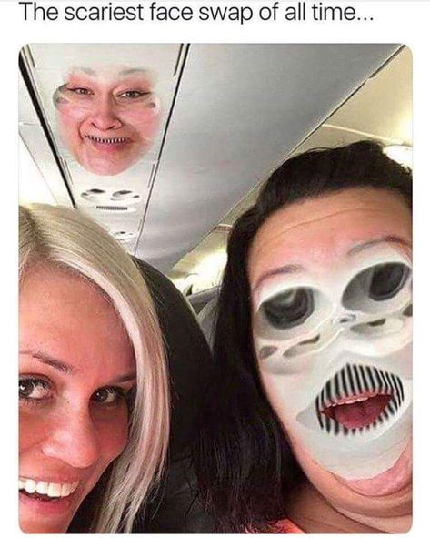 One of the scariest face swaps. - 9GAG