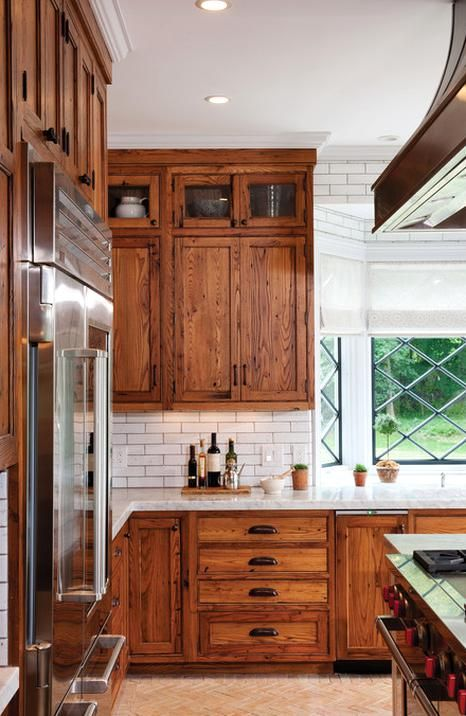 12 Earth Tone Kitchen Ideas Town Country Living In 2020 Kitchen Backsplash Designs Farmhouse Kitchen Cabinets Kitchen Cabinets