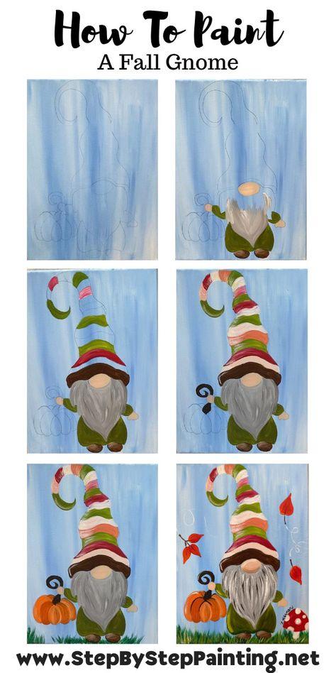 Art Painting Tools, Canvas Painting Tutorials, Acrylic Painting Canvas, Diy Painting, Acrylic Art, Canvas Art, Painting Flowers, Fall Canvas, Halloween Painting
