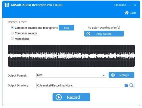 Gilisoft Audio Recorder Pro Is A Perfect Audio Recorder To Record Computer Sounds And Microphone To Aac Ac3 Aiff Amr Computer Knowledge Music Streaming Audio