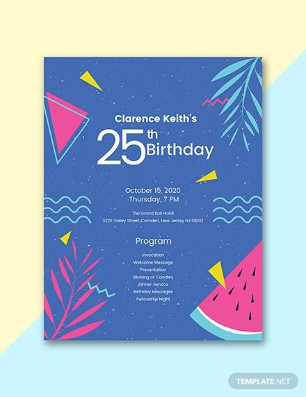 Free Sample Birthday Program Church Anniversary Program