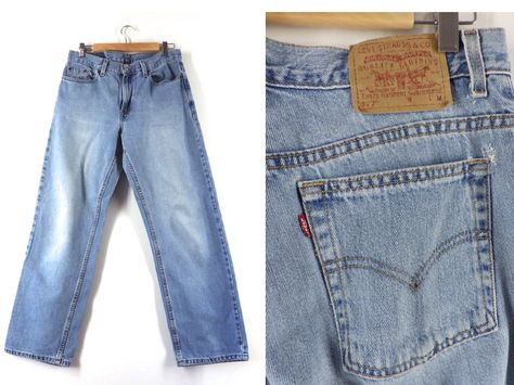 Vintage 90s Levi's 577 Loose Lower Rise Jeans Faded Blue