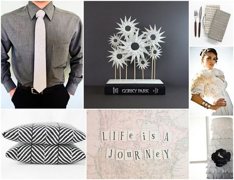 Hipster Fifty Shades of Grey -inspired wedding