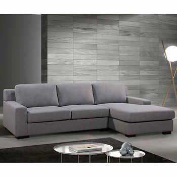 Surrano Grey Fabric Sofa With Right Hand Facing Chaise With Images Grey Fabric Sofa Fabric Sofa Grey Fabric