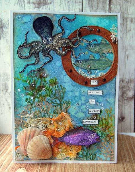 tim holtz sea life projects