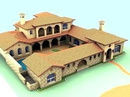 Adobe Southwestern Style House Plan 3 Beds 3 5 Baths 3061 Sq Ft Plan 929 685 House Plans Spanish Style Homes Hacienda Style Homes
