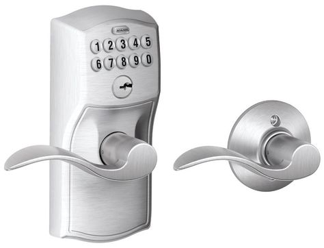 Schlage Fe575 Cam Acc Door Levers Door Locks Keypad Lock