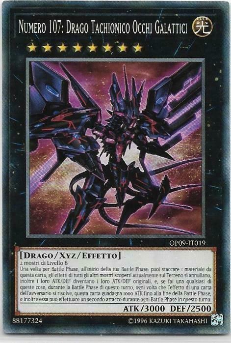 Yu Gi Oh Numero 107 Drago Tachionico Occhi Galattici Op09 It019