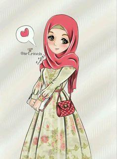 احدث صور انمى محجبات 2019 خلفيات بنات انمي محجبات انمي محجبات فيس بوك Anime Muslim Hijab Cartoon Anime Muslimah