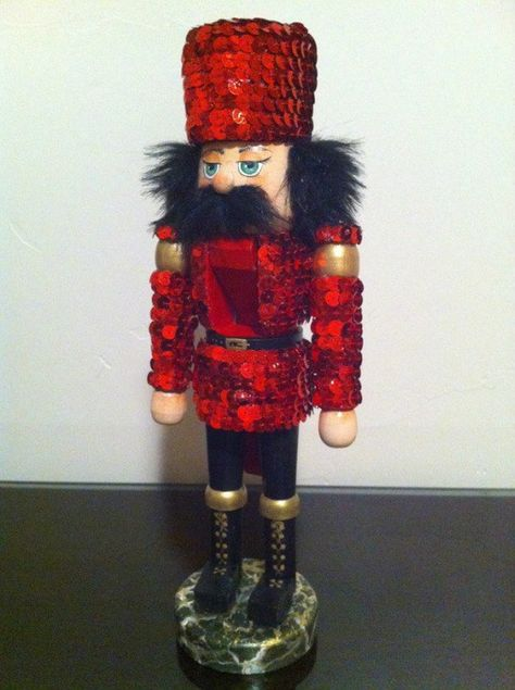 Red Sequined Nutcracker::Sparkly. 8)