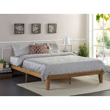 Night Therapy Rustic Oak Solid Wood Platform Bed Assorted Sizes