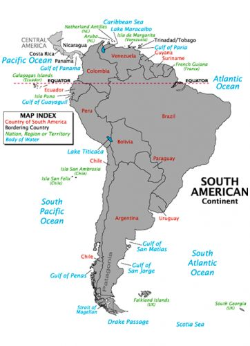 Maps Of South America South America Map America Outline Cities