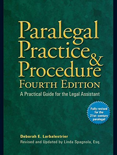 Download Pdf Paralegal Practice Procedure Fourth Edition A