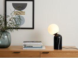Vetro Table Lamp, Black Marble & Brass | Table lamp design