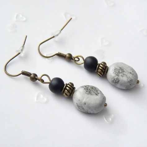 Glasperlen 20 Stück 14 mm türkis marmoriert Optik Perlen Schmuck 1001