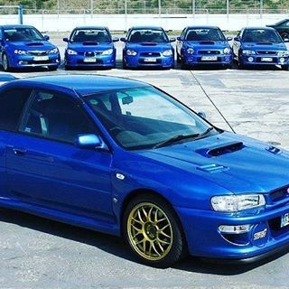 Subaru Impreza Wrx Sti Type R Version 5 1997 2000 Tag Your Friends The Impreza Came Matched With The Very Hot 2 0 Twin Turbo Subaru Impreza Impreza