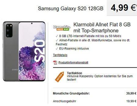 8gb Klarmobil Allnet Flat Ab 24 99 Handyvertrag Mobilfunkvertrag Und Mobilfunknetz