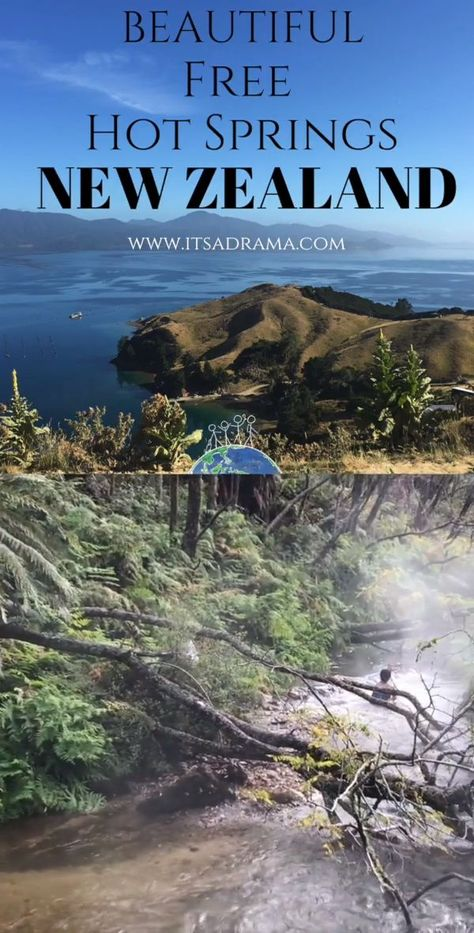 Taking a New Zealand vacation? Here are two of the BEST free natural hot springs in Rotorua, New Zealand. If you are looking for amazing places around the world that will cost you NOTHING then you will love these New Zealand travel tips on where to go.  #newzealand #hotsprings #newzealandtravel