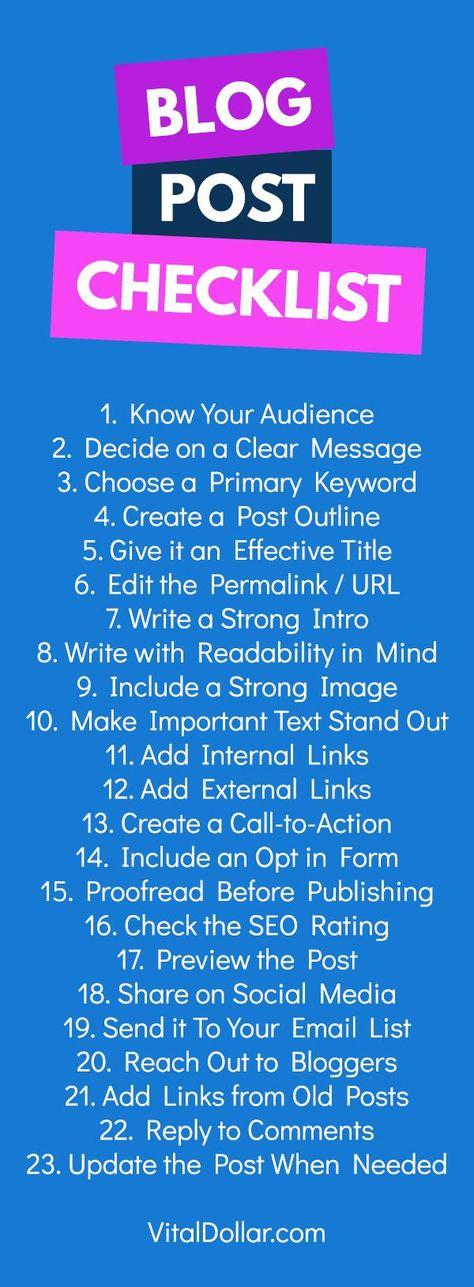 Blog Post Checklist: 20+ Steps to Extraordinary Blog Posts