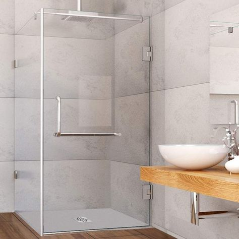 Vigo Vg601236 34 X 46 Frameless Shower Enclosure With 38 Glass
