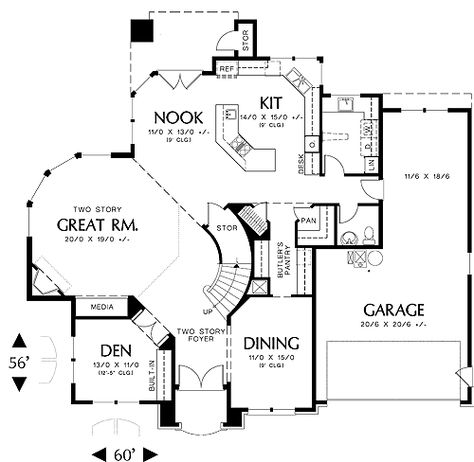 Two story deck on pinterest second story deck two level for Large great room house plans