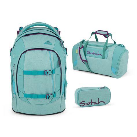 Satch Pack Aloha Mint 3er Set Schulrucksack Sportbeutel /& Schlamperbox