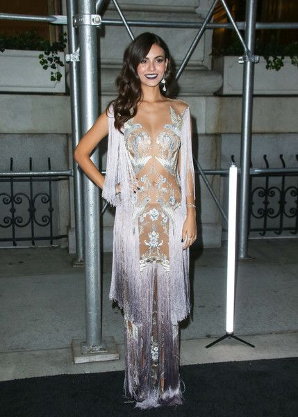 Victoria Justice is seen arriving at the Worldwide Editors of Harper's Bazaar celebration, ICONS.