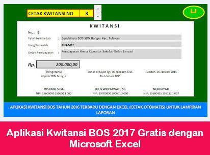 Aplikasi Kwitansi Bos 2017 Kwitansi Microsoft Excel