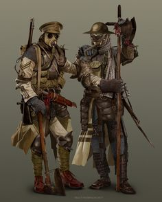 WW1 Trench Knight by Trace Thompson on ArtStation.