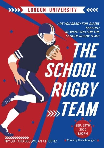 How To Make Rugby Game Poster Poster Found Out More Fotor Design Maker Rugby Games Rugby Design Rugby