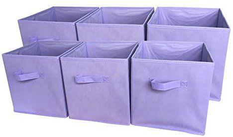 Foldable Cloth Storage Cube Basket Bins Organizer 6 Pack