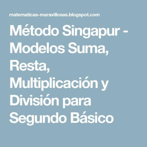 Pin De Walkiria Angelica En Matematica Singapur Multiplicacion Metodo
