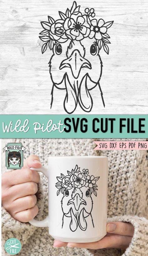 Diy Flower Crown, Flower Svg, Flower Crowns, Flower On Head, Chicken Drawing, Chicken Crafts, Princess Tattoo, Chicken Lady, Vinyl Projects