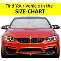 Windshield sun shade easy read size chart for car suv trucks minivan shades various windshields from learn more   also rh pinterest