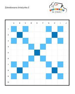 Kodowanie Na Dywanie Zimowe Dyktanda Graficzne Kodowanie