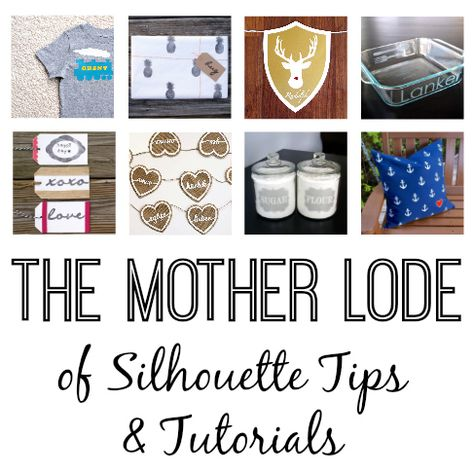 The Mother Lode of Beginner Silhouette Tutorials