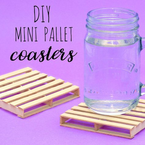 DIY Mini Pallet Coasters With Lolly Sticks — Doodle and Stitch