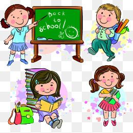 Cartoon Students Back To School Design Life Cartoon Student Study Life Campus Theme Png Transparent Clipart Image And Psd File For Free Download Kids Vector Free Graphic Design Vector Free