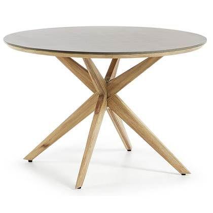 Kave Home Juliette Eettafel O 120 Cm Esstisch Ideen Gartentisch Esstisch Holz Tisch