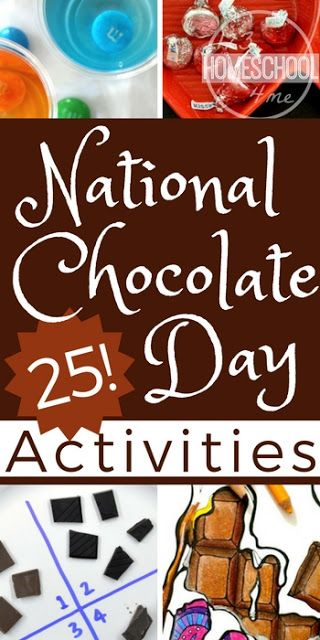 Chocolate Crafts And Activities For National Chocolate Day Oct 28th Chocolate Crafts Chocolate Activities Chocolate Day