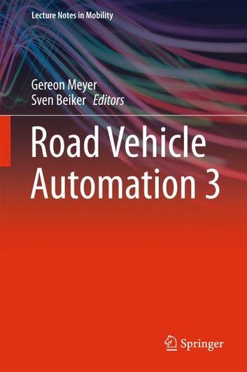 Road Vehicle Automation 3 Ebook Electronic Engineering Wireless Sensor Network Vehicles