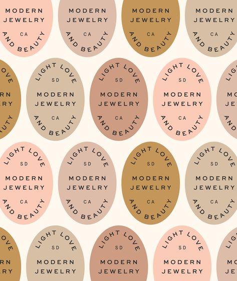 Modern, Neutral Logo Design + Branding for Jewelry Brand