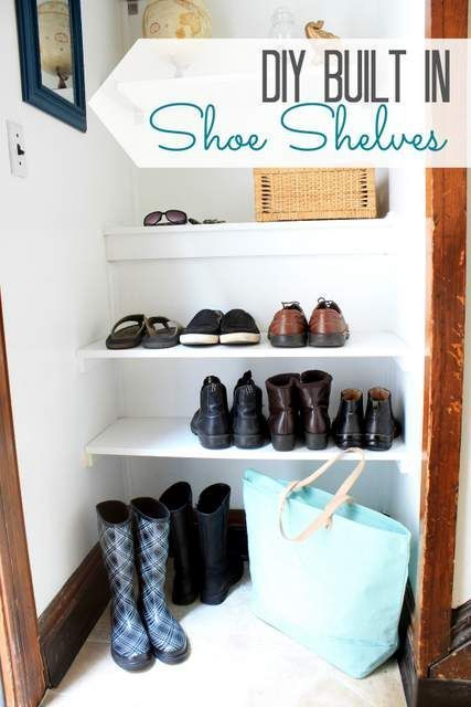 Diy Built In Shoe Shelves Shoe Shelves Diy Shoe Storage Diy