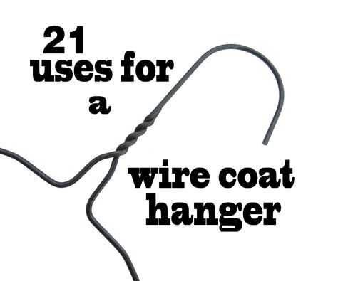 Wire coat hangers are cheap and easy to find. Sure they work well for hanging your dry cleaning but that's just the beginning. Here are 21 ways to upcycle the ...