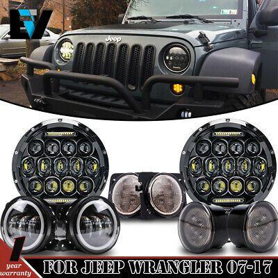 Ad Ebay Dot Fit Jeep Wrangler Jk 2007 2017 7 75w Led Headlights