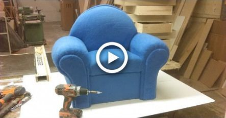 How I Make A Small Couch Chair Diy Babysofachair Babysofadiy Babysofacouch Babysofachildren In 2020 Small Couch Kids Rocking Chair Baby Sofa Chair