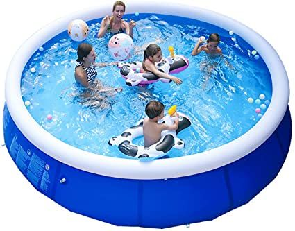 Hoolro Inflatable Swimming Pool Above Ground For Family Outdoor Backyard Blow Up Poo In 2021 Portable Swimming Pools Blow Up Pool Inflatable Swimming Pool