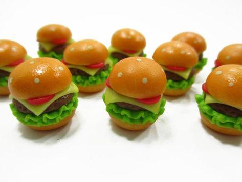 10 Loose Sandwich Dollhouse Miniatures Bakery Food Supply Deco Fast Food