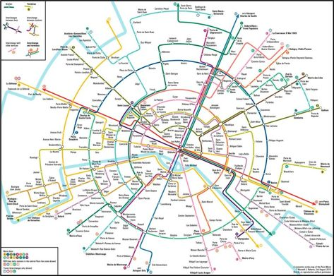 Evolution Du Plan De Metro De Paris Du Plat De Spaghetti A La